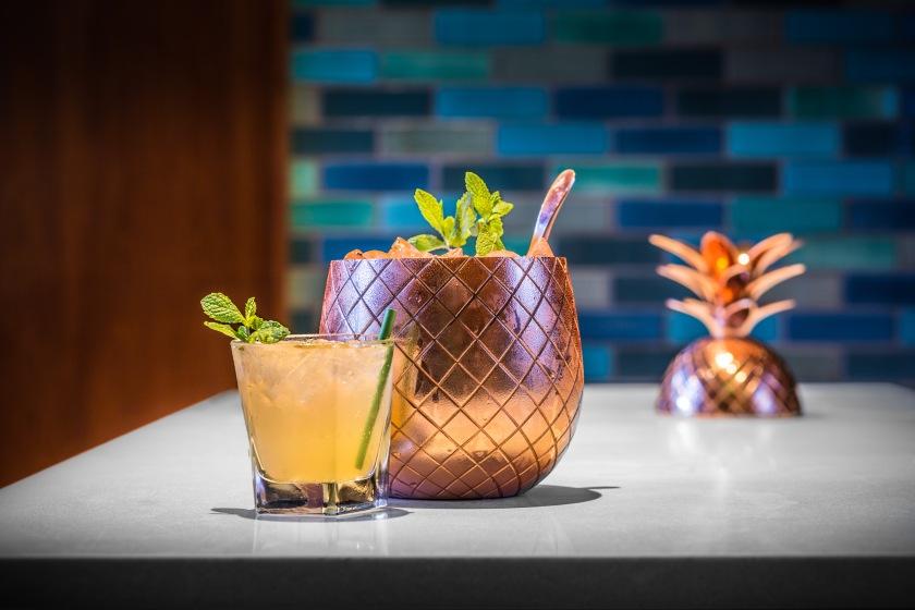 Tuyet_s Elixir (Pineapple pitcher) Elyx Vodka, hibiscus bitters, mint honey, pineapple puree, soda